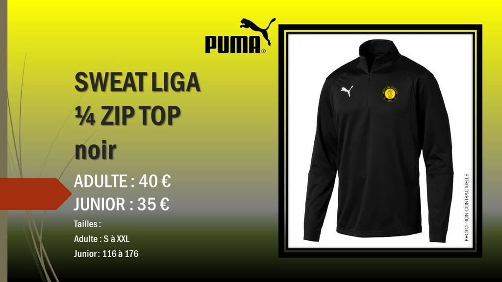 SWEAT LIGA 1/4 ZIP TOP PUMA