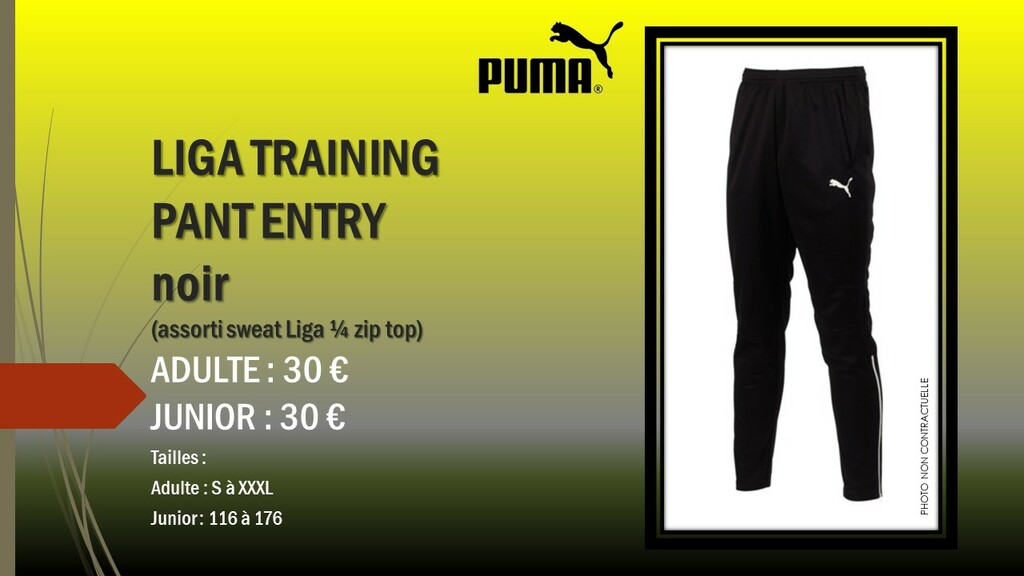 LIGA TRAINING PANT ENTRY PUMA